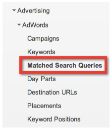 Google ANalytics Search Engine Queries