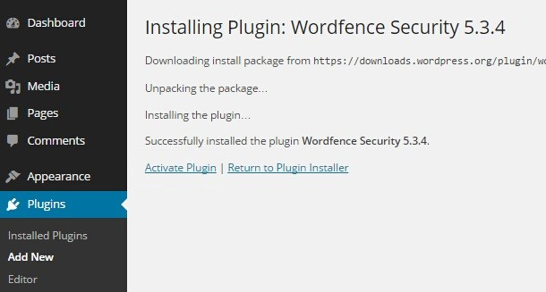 Identifying Malicious Content Using WordFence Plugin
