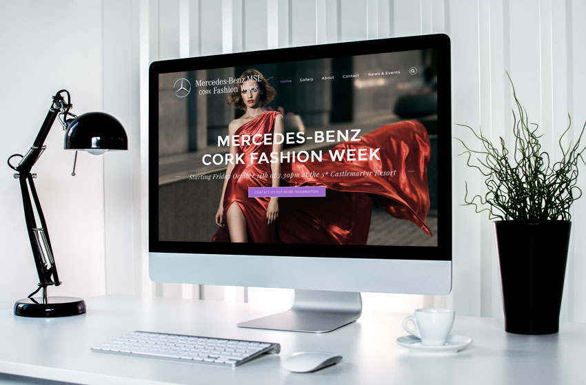 Mercedes-Benz MSL Cork Fashion Week Website