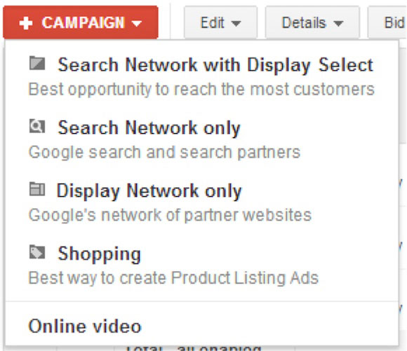 Google AdWords Search and Display Network