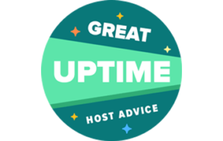 Great Uptime HostAdvice Award