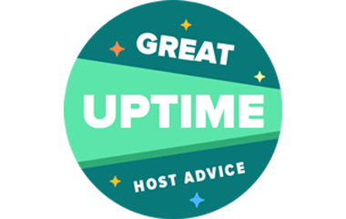 Great Uptime HostAdvice Award